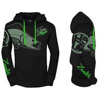 Hotspot Design Hoodie - Fishing Mania Zander - Black - Maat XL