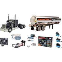 Tamiya 331056356 US Grand Hauler Matte Black Edition 1:14 RC truck Voordeelset Exclusieve set