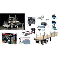 Tamiya 331056336 US King H Black Edition 1:14 Elektro RC truck Voordeelset Exclusieve set