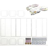 Rokuhan SA0007-2 Z Shorty wagenstickers, voor de eigen decoratie van de 7297911 behuizing