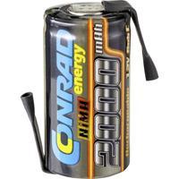 Conrad energy Accucel NiMH Sub-C 1.2 V 2000 mAh Met soldeerlip