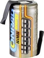 Conrad energy Accucel NiMH Sub-C 1.2 V 4000 mAh Met soldeerlip