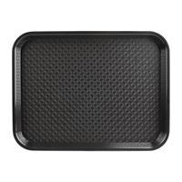 dienblad plastic 305 x 415mm zwart