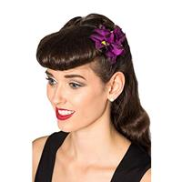 Fiftiesstore Off Duty Hairclip Violet