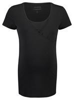 Noppies zwangerschap + voedings T-shirt Rome zwart