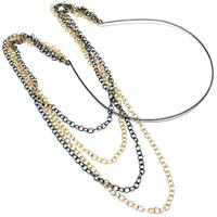 lookinggoodtoday Hippe haarband Chain Gold