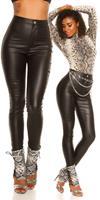 cosmodacollection Sexy High Waist Skinny Leatherlook Pants Black