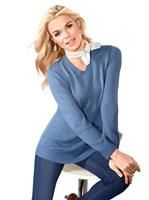 Your look for less! Pullover, jeansblauw