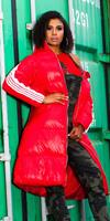 cosmodacollection Trendy Long Winter jacket with hood Red