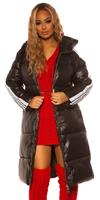 cosmodacollection Trendy Long Winter jacket with hood Black