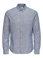 Only & Sons Kleding Onscaiden Solid Linen Shirt by Only & Sons