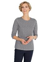 Your look for less! Shirt, marine geprint