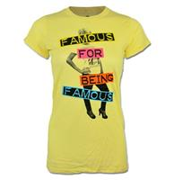 fiftiesstore Famous For Being Famous Dames Shirt