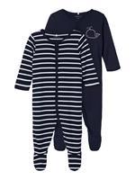 nameit NAME IT 2-pack Drukknoop Pyjama Heren Blauw