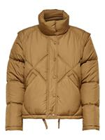 Only Detailed Quilted Jacket Dames Bruin
