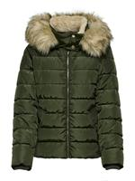 Only Short Quilted Jacket Dames Green