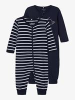 nameit NAME IT 2-pack Rits Pyjama Heren Blauw