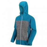 Regatta outdoorjas Garn softshell dames blauw/grijs