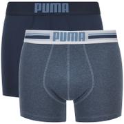 Puma Men's 2-Pack Placed Logo Boxers - Blue - Blauw
