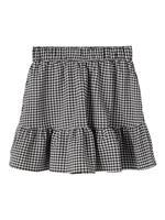 NAME IT Checked Mini Skirt Dames Zwart