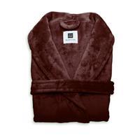 Zo Home Flanel Fleece Badjas Cara - mahogany red