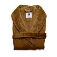 Zo Home Flanel Fleece Badjas Cara - cognac brown