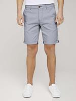 TOM TAILOR DENIM Chino Shorts, blue white minimal check