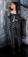 Cosmoda Collection Trendy 2piece-set met print zwart