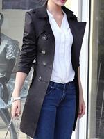 BERRYLOOK Spring and autumn coat slim waistband long trench coat