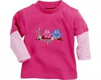 Schnizler T shirt lange mouwen Uilen meisjes roze