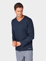 Tom Tailor pyjama Top met lange mouwen, blue-dark-solid