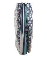 BouFFante Off-white sarong met turquoise - blauwe ankers