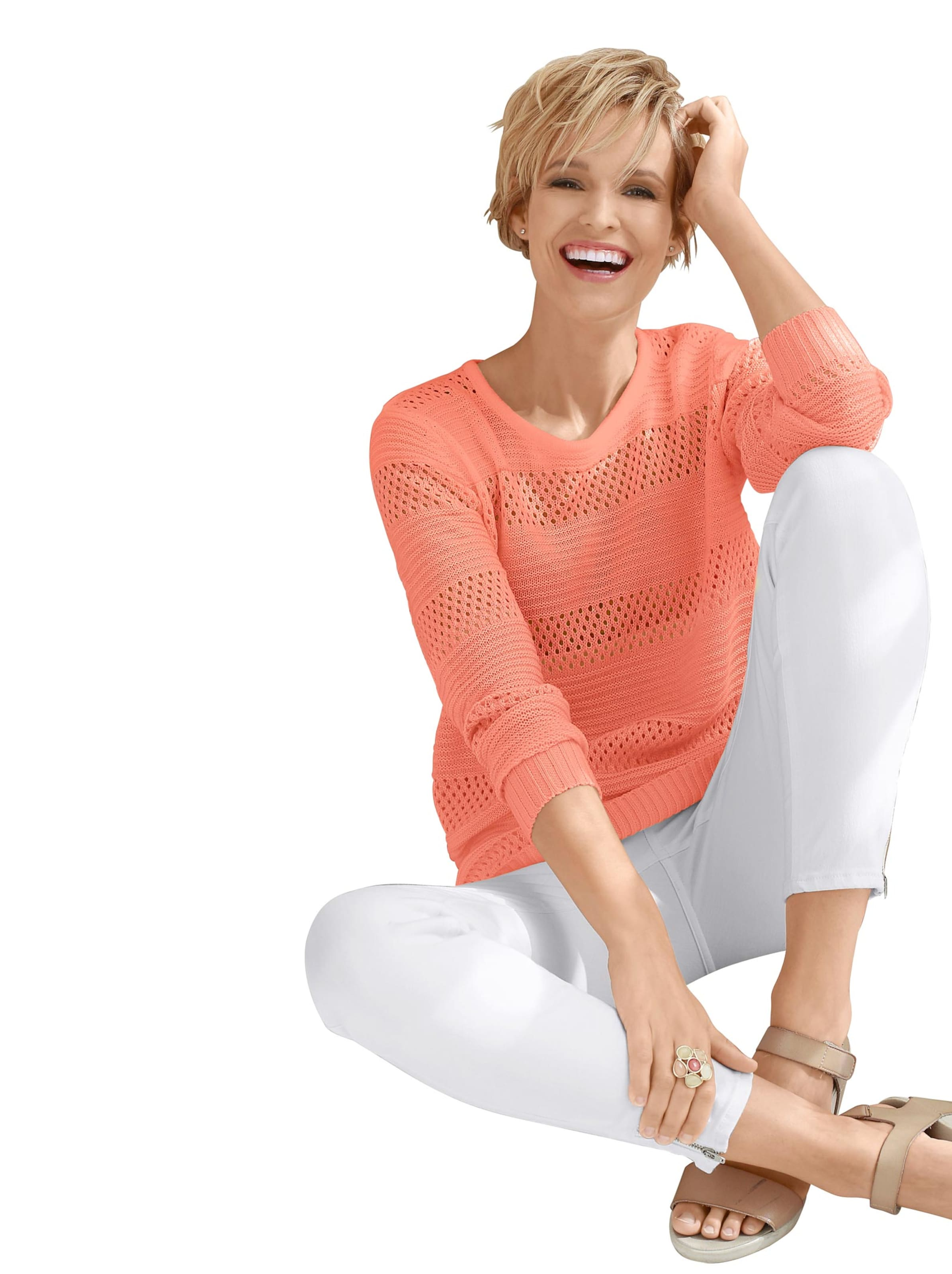 Your Look... for less! Dames Pullover apricot Größe
