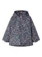 Name it Floral Printed Winter Jacket Dames Blauw