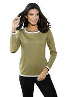 Your Look... for less! Dames Pullover rietgroen Größe