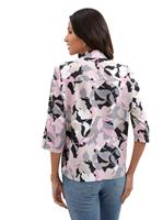 Your Look... for less! Dames Comfortabele blouse hortensia/taupe gedessineerd Größe