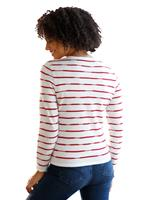 Your Look... for less! Dames Pullover wolwit/rood Größe