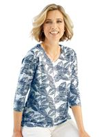 Your Look... for less! Dames Shirt donkerblauw/ecru Größe