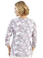 Your Look... for less! Dames Shirt taupe/ecru Größe