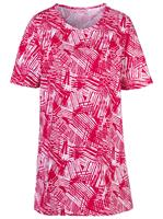 Your Look... for less! Dames Lang shirt rood gedessineerd Größe