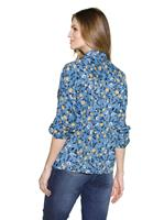 Your Look... for less! Dames Blouse middenblauw gedessineerd Größe
