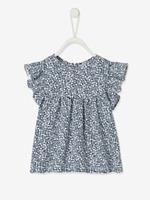 VERTBAUDET Baby T-shirt met bloemenprint marineblauw met print
