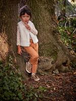 VERTBAUDET Bodywarmer van imitatiebont meisje ivoor