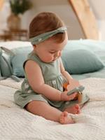 VERTBAUDET Jurk met bijpassende haarband babymeisje donkergroen met print