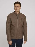 Tom Tailor leren jas, earth brown faux leather