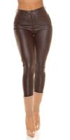 Cosmoda Collection Sexy faux leder thermo broek bruin