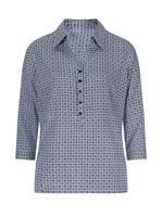 Your Look... for less! Dames Blouse marine geprint Größe