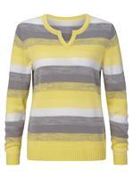 Your Look... for less! Dames Pullover citroen gedessineerd Größe