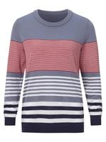 Your Look... for less! Dames Pullover duivenblauw gestreept Größe