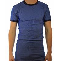 Beeren hemd korte mouw, blauwe streep M2000
